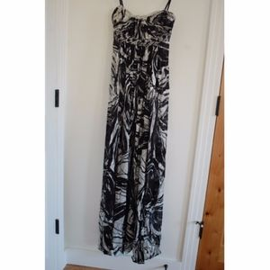 Black and White Marble Gown